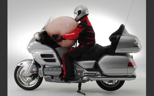 Honda airbag system for motorcycle